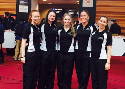 002 Annelise, Abigail, Emma, Anna, Anna NZ Departure