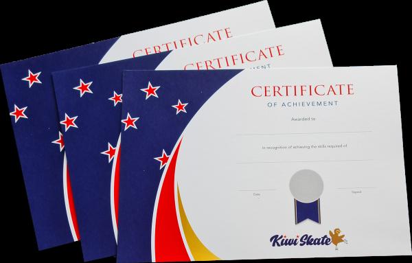 Kiwi Skate certificates